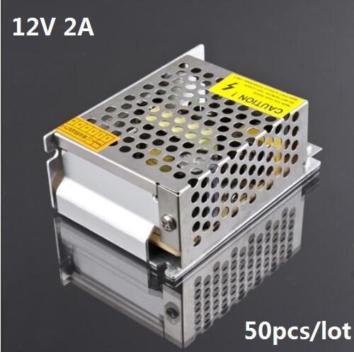 (50pcs/lot) 12V 2A 24W Power Supply power adapter for 3528 5050 Led Strip 12V 2A LED transformer Driver for led strip(China (Mainland))