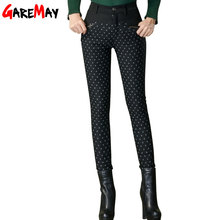 Women Winter Duck Down Pants Warm Trousers For Women Female plus size Dot Fashion Pant slimming Thick Pencil ski Down Pants Y335(China (Mainland))
