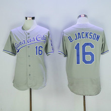 16 Bo Jackson Flexbase Jersey Blue White Gray(China (Mainland))