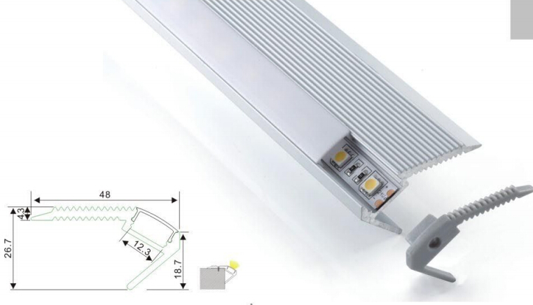 2015 Sale Hot Sale Led Bar Light Led Step Lighting 100 Pcs A Lot Free Shipping Stair Clean Design Aluminum Profile With Cover(China (Mainland))