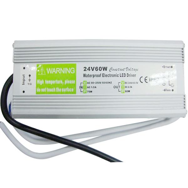 Brand New Waterproof Electronic LED Driver Transformer Supply Power AC 90V - 250V to 24VDC 24V 60W<br><br>Aliexpress