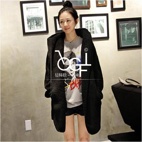 Леди тёплый верхняя одежда кардиган длинный рукав куртка пальто женщины балахон зима