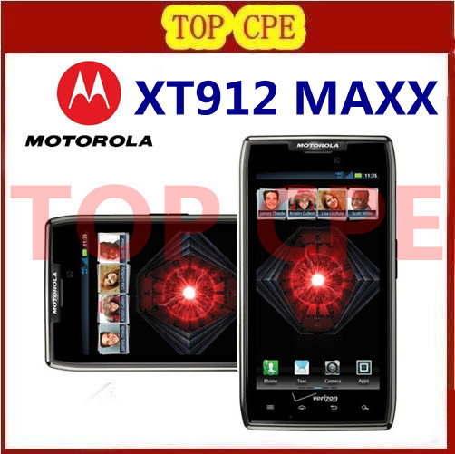 XT912 MAXX Original Refurbished Mobile Motorola Droid Razr MAXX Unlocked 3G 4G Android smartphone 8MP Wifi Free shipping(China (Mainland))