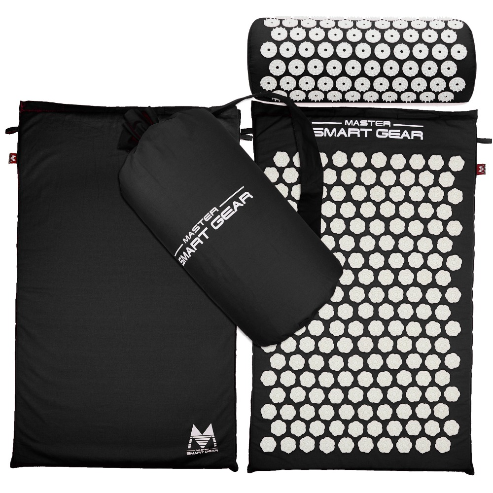Acupressure Mat and Pillow two in One set Body Head Back Foot Massage Cushion(China (Mainland))