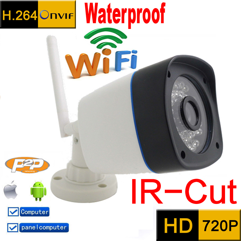 ip camera 720p HD wifi cctv security system waterproof wireless weatherproof outdoor infrared mini Onvif  IR Night Vision Camara(China (Mainland))