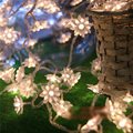 10M 100 LED Lotus Flowers String Fairy lights Christmas Garland Decoration Garland LED Wedding Party Holiday