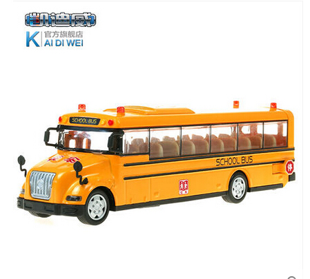 1 PC 18cm Cadeve School bus model voice alloy toy car auto warning light children gifts(China (Mainland))