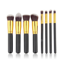1Pcs Professional 8Pcs Pack Face Eyeshadow Nose Foundation Kit Makeup Cosmetic Brushes Set Wholesale