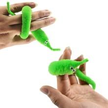 3pcs/lot Magicians Toy Magic Trick Twisty Fuzzy Worm Plush Wiggle Stuffed Animals Street Toy Mr Fuzzy Dolls 22cm