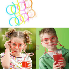 Free Shipping Unique Flexible Novelty Soft Glasses Straw Glasses Drinking Tube Fun Drinking(China (Mainland))