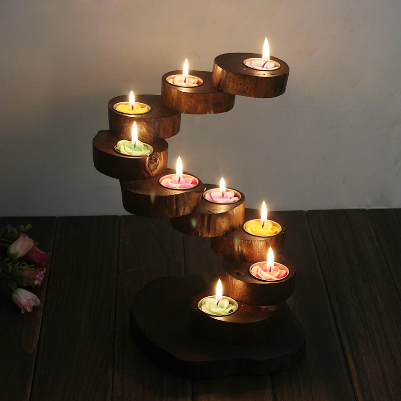 Log candle holder promotion shop for promotional log Wood candle holders