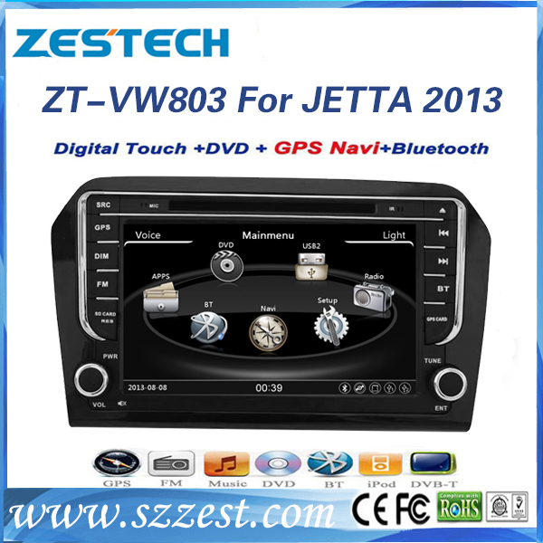 ZESTECH Factory Supplier CE certification and 8 inch 2 din Car audio for VW JETTA 2013 auto parts with GPS Navigation(China (Mainland))