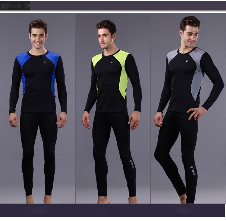 Men's Bike Bicycle Thermal Fleece Base Layer Underwear Cycling Running Clothing Set CC9025