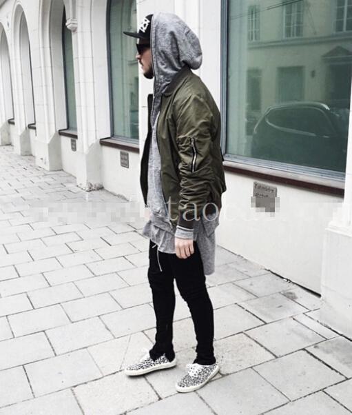 fashion brand Saint Manshion Side Zipper men slim Fear of God Yeezy Boost Casual Pants kanye west trousers(China (Mainland))