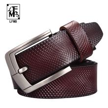 Buy LFMB Belt Men Genuine Leather Designer Belts Men High Luxury Male Strap Cinturones Hombre Free for $15.00 in AliExpress store