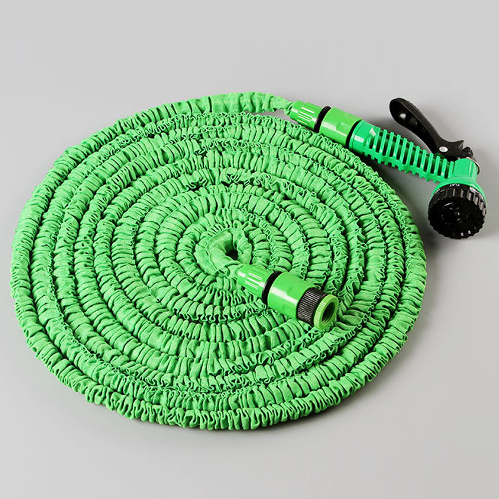 25 / 50 / 75 / 100FT Universal Garden Hose Reels 3 Times Expandable Retractable Wall Watering Hose Reels With Water Spray Gun(China (Mainland))