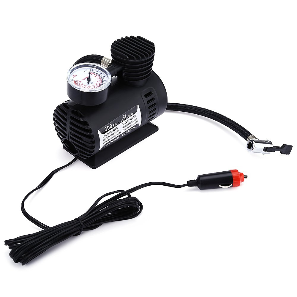 New12V 300PSI Car Bike Tire Tyre Inflator Pump Toys Sports Electric Pump Portable Mini Compact Compressor Pump Tyre Air Inflator(China (Mainland))