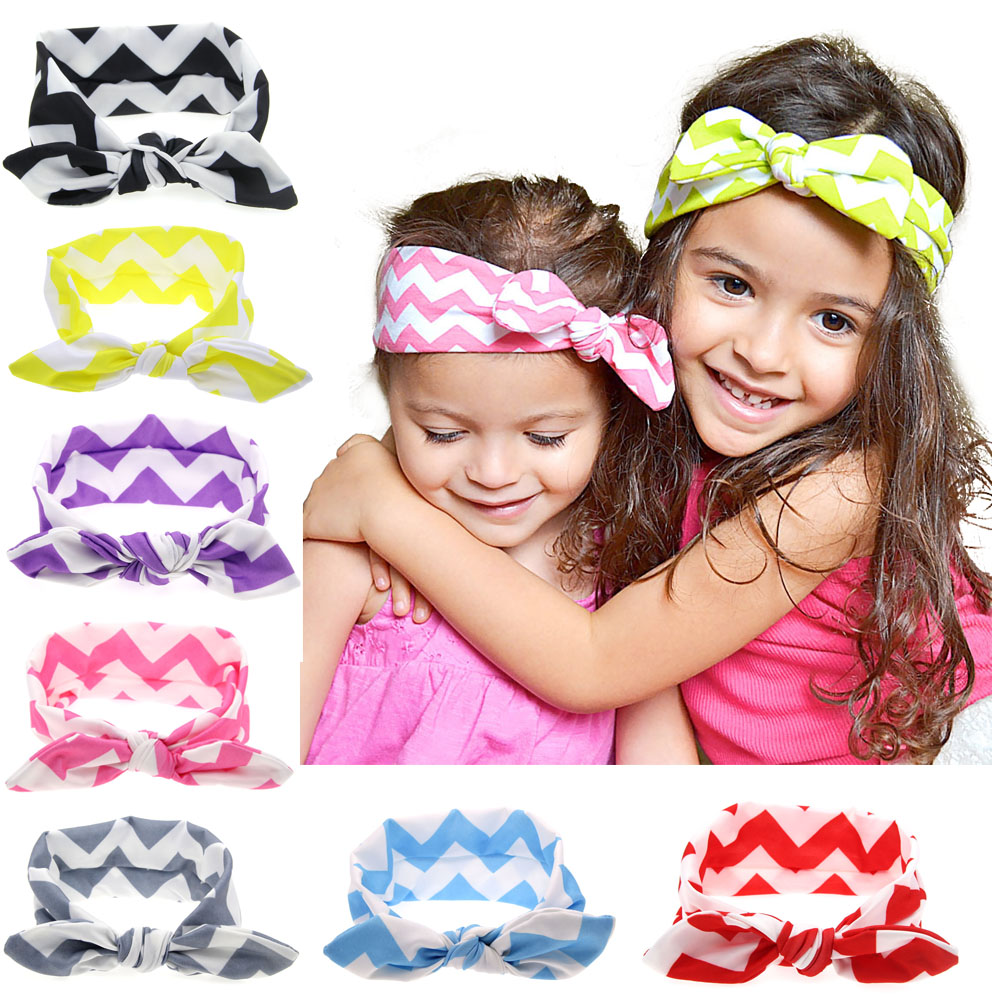9 Colors Baby Top Knot Headband Girls Wave Striped Infant Turban Kids Hair Accessories Tie Knot Headwrap H105(China (Mainland))