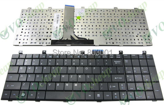 Hot sale laptop computer keyboard for MSI MS-1675 1683 VR600 CX600 CX500 EX620 US layout(China (Mainland))