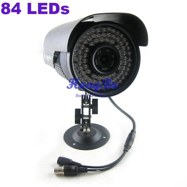 Security camera 1/4   CMOS  84 LEDs  Color  Night Vision Indoor/Outdoor  CCTV  Camera +Free Shipping<br><br>Aliexpress