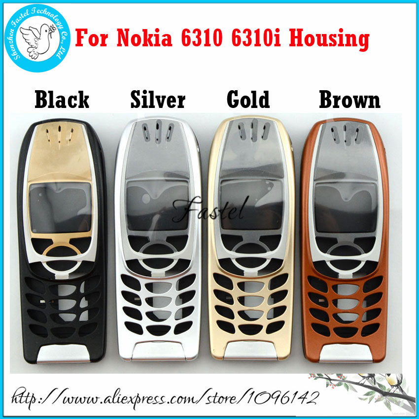 5 PCS/Lot For Nokia 6310 6310i Brown High Quality Brandnew Mobile Phone Housing Cover Case (No Keypad)+Free Tools, Free Shipping(China (Mainland))