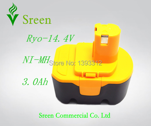 New 14.4V NI-MH 3000mAh Replacement Power Tool Rechargeable Battery for Ryobi RY6201 RY6200 130224011 130240010(China (Mainland))