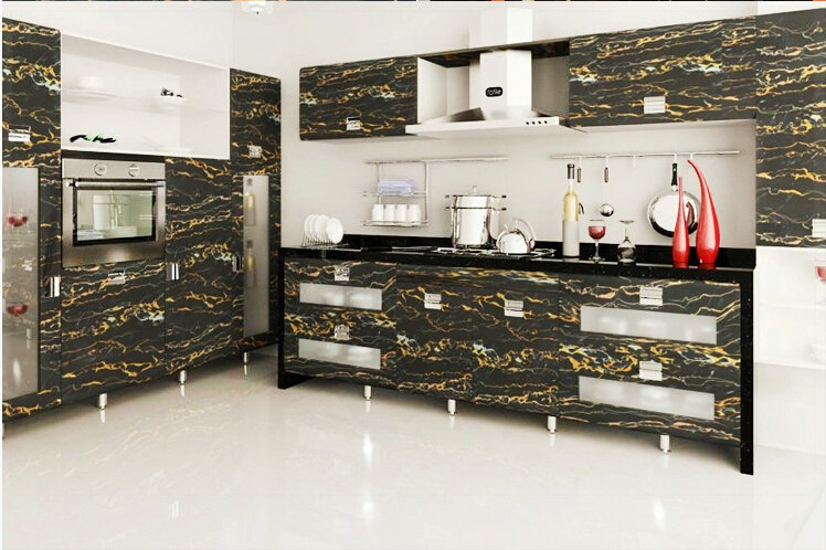 Autocollant meuble cuisine meilleures images d for Kitchen cabinets lowes with papiers peints cuisine