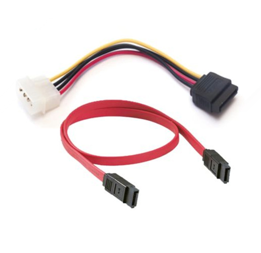 SATA Serial ATA Data Cable (Red and Black,40cm)+ 15CM 4 Pin Male to 15 Pin SATA Power Adapter Cable Free Postage High Quality(China (Mainland))