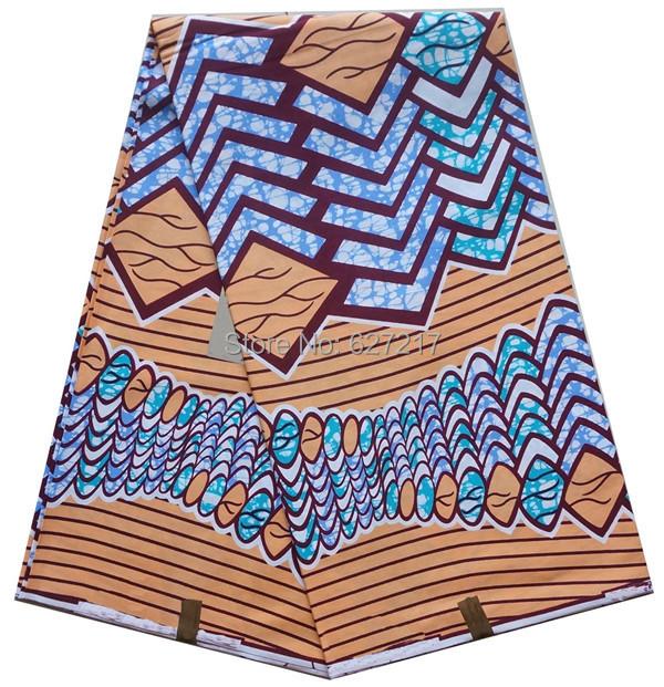 2016 new popular 6yards african prints super fabric wax veritable wax real 100% cotton cheap hollandais style dutch ankara