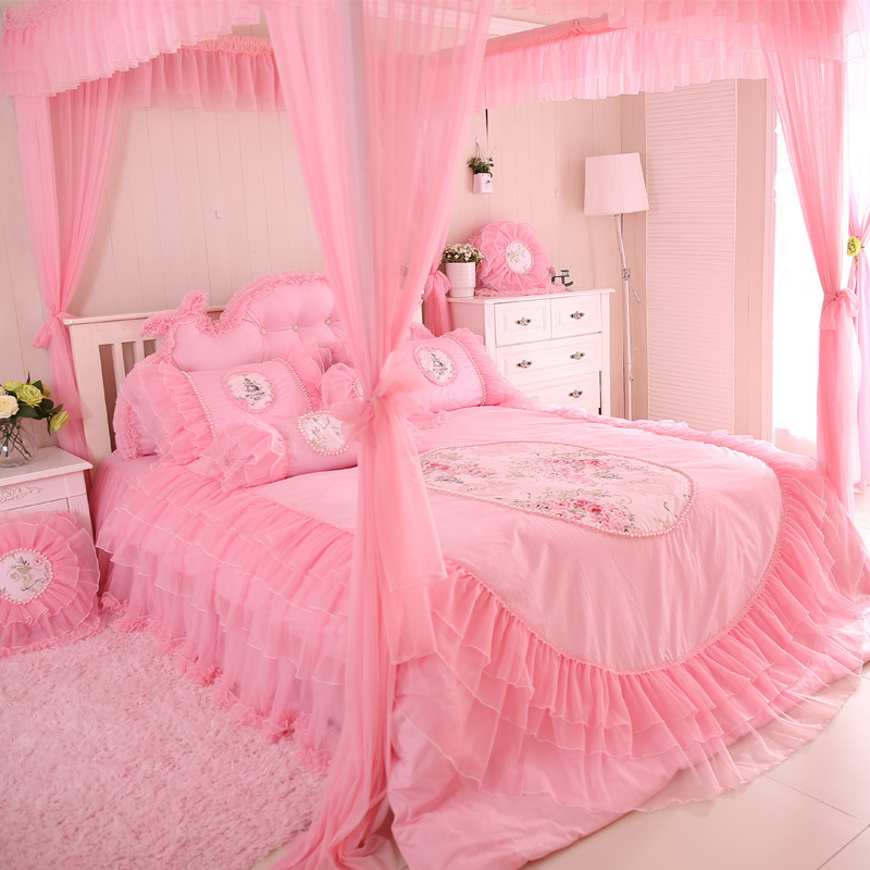Girly bed covers promotion shop for promotional girly bed for Housse de couette king size
