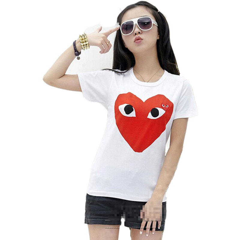 new hot 2015 fashion casual red heart female t shirt good