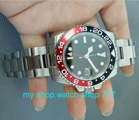 ПАРНИС 40 мм Высокое качество 2016 новая мода GMT Азии автоматика движение мужские часы с Сапфировым зеркало 000272aBa
