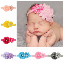Buy Girl Headband Elastic Hairband Hair Band Accessories 12pcs/lot Baby Headbands Headwear Children Flower Pearl Infant Toddler for $5.72 in AliExpress store