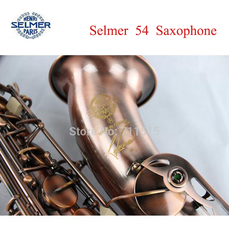 Henri Selmer Tenor Saxophone Instruments musicales profesionales saxofone R54 Red Brass soprano saxophone - sax lovers store