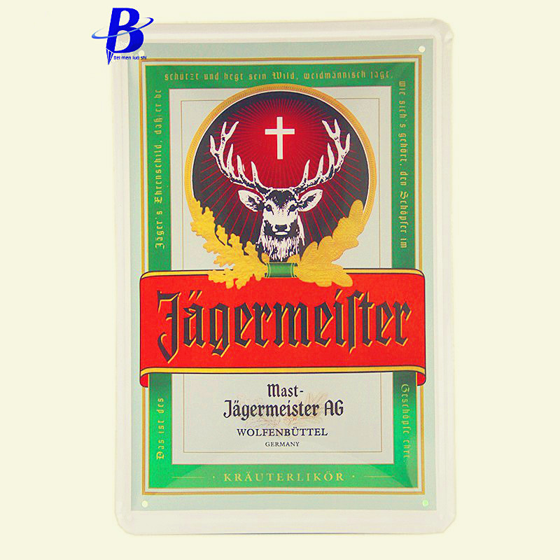 Wand Decoratie Vintage Tin Metal Signs Jagermeister Wall Stickers Decor Iron Retro Tin Metalpainting Plaques Neon Beer Sign Ajax(China (Mainland))