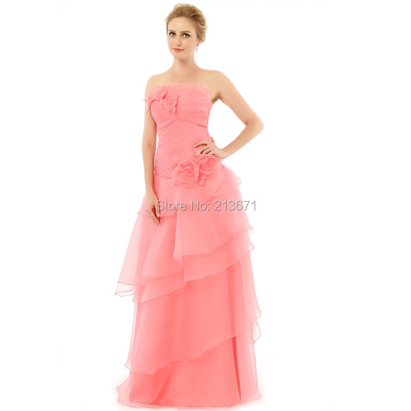 New arrival elegant wedding occasion party dress a line for Elegant wedding party dresses