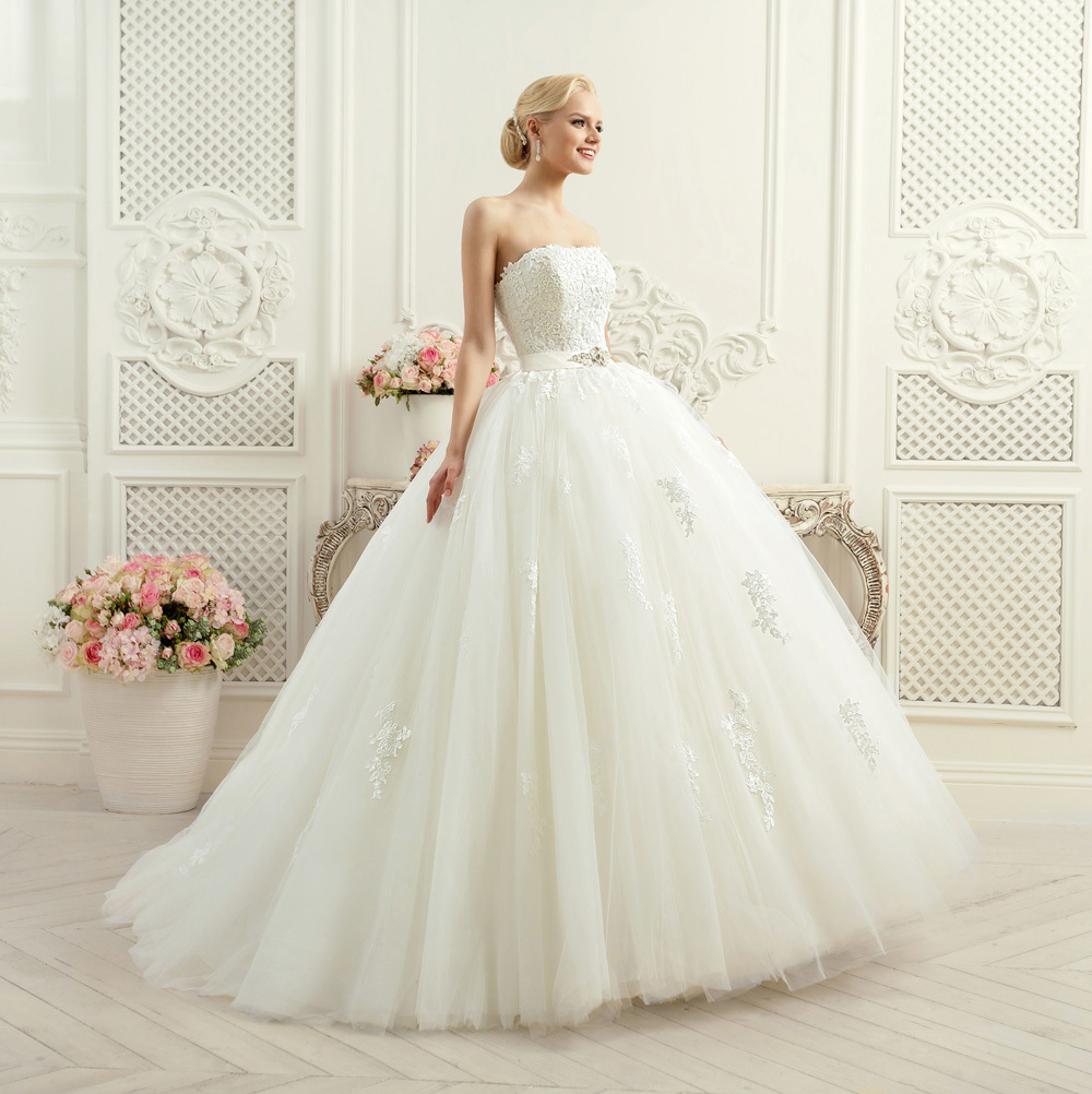 Wedding Gown Lace Up Back : Elegant lace ball gown wedding dresses plus size up back