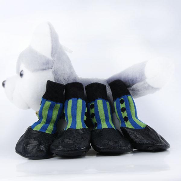 Pet Boots Socks Medium Dog Waterproof Rain Shoes Non-slip Rubber Puppy Shoes()