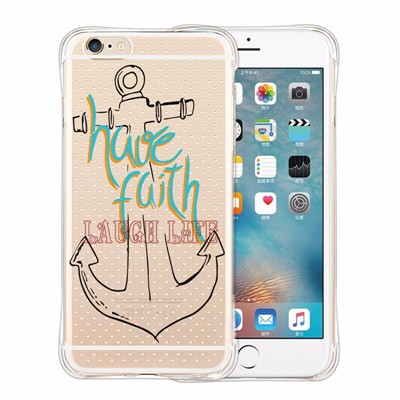 Case Cover For Apple iPhone SE 5 6 6plus Security Amor Anti-shock Case Funny Anchor Balloon Flowers Clear Soft Protective Cover