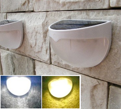 GOOD QUALITY LED WALL LAMPS 3000K WARM WHITE OUT DOOR SOLAR LAMP HOTEL 0.4W LIGHT 1