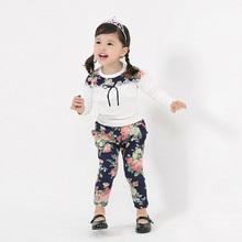 Free shipping,Spring and autumn Hot sale 2016 child clothing,girl clothing,baby girls sets,T-shirt+pants,Korean,Kids wear(China (Mainland))