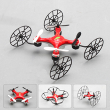 Multi-function 3D Flying nano Rc toys design 4 in 1 Mini drones 2.4G 4CH 6AXIS RC Quadcopter UFO Fast Deform 668-Q4