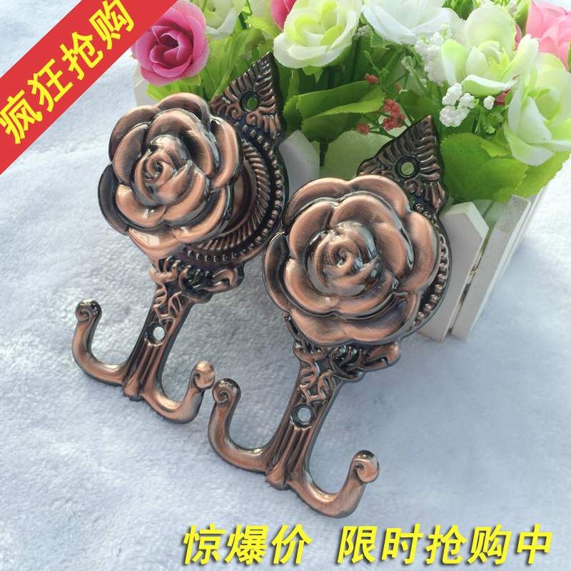 High quality European style curtains rose wall hooks curtain accessories flower design(China (Mainland))