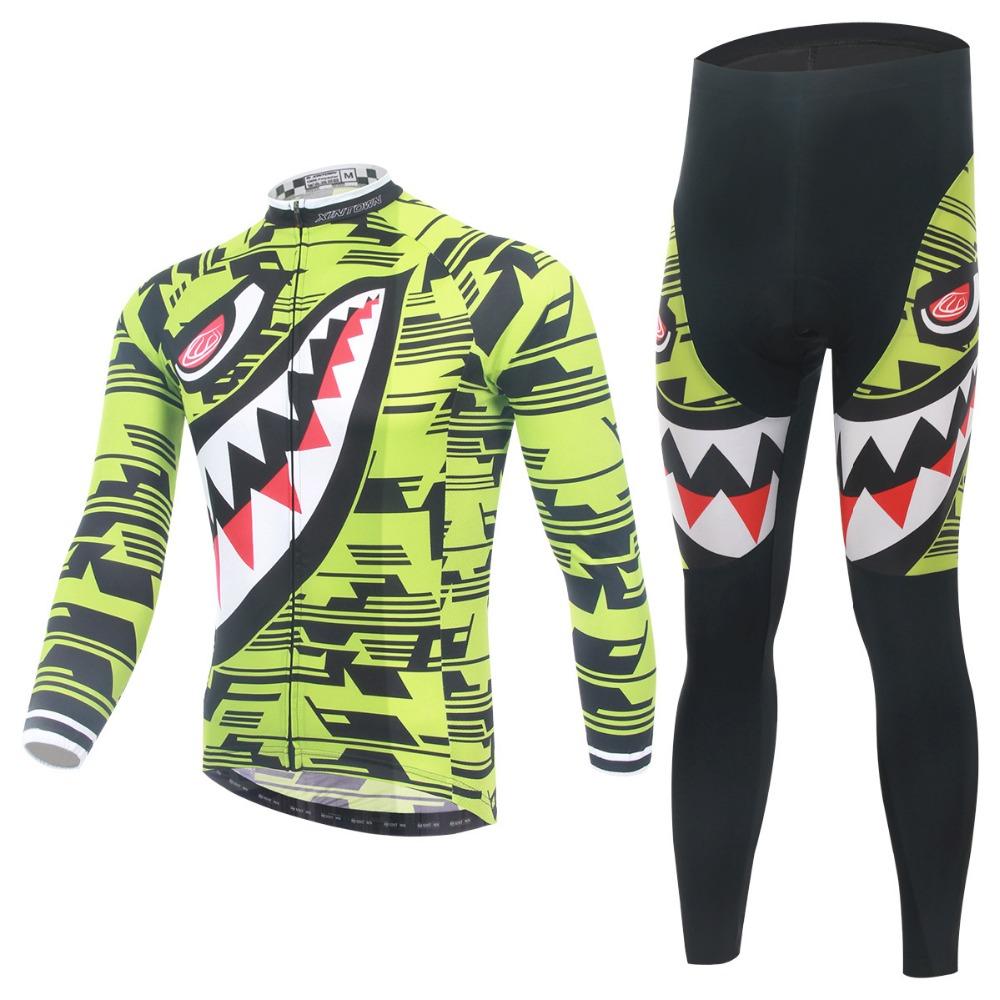 2016 Shark Man Cycling Jersey Bicycle Bike Long Sleeve Sportswear Cycling Clothing CC0361