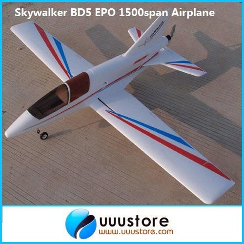 Фотография FPV Skywalker BD-5 1500span epo airplane Glider RC Model Airplane Kit