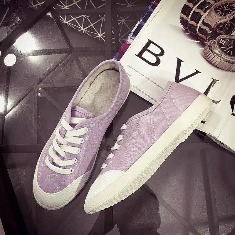 Dekesen 2016 Women's shoes low Canvas Shoes Lace up breathable Casual Flat shoes fashion classic brand women shoes Purple P011