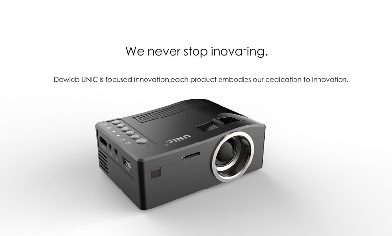 Original unic full 1080p hd portable mini projector led for Small video projectors reviews