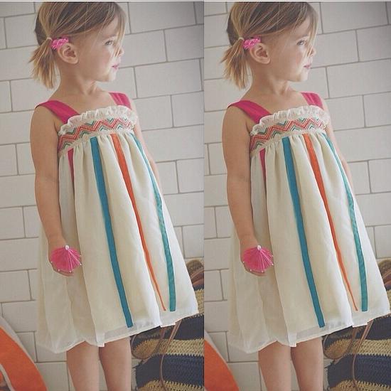 Retail European and American Summer Girl PINK TEAL ORANGE Ribbon Dress Kid Causal Suspender Dress Toddler Girl Chiffon Dress(China (Mainland))