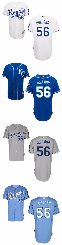 Kansas City Royals 56 Greg Holland 2015 Men Baseball Jersey Personalized Embroidery Stitched Shirt Free Shipping Wholesale(China (Mainland))