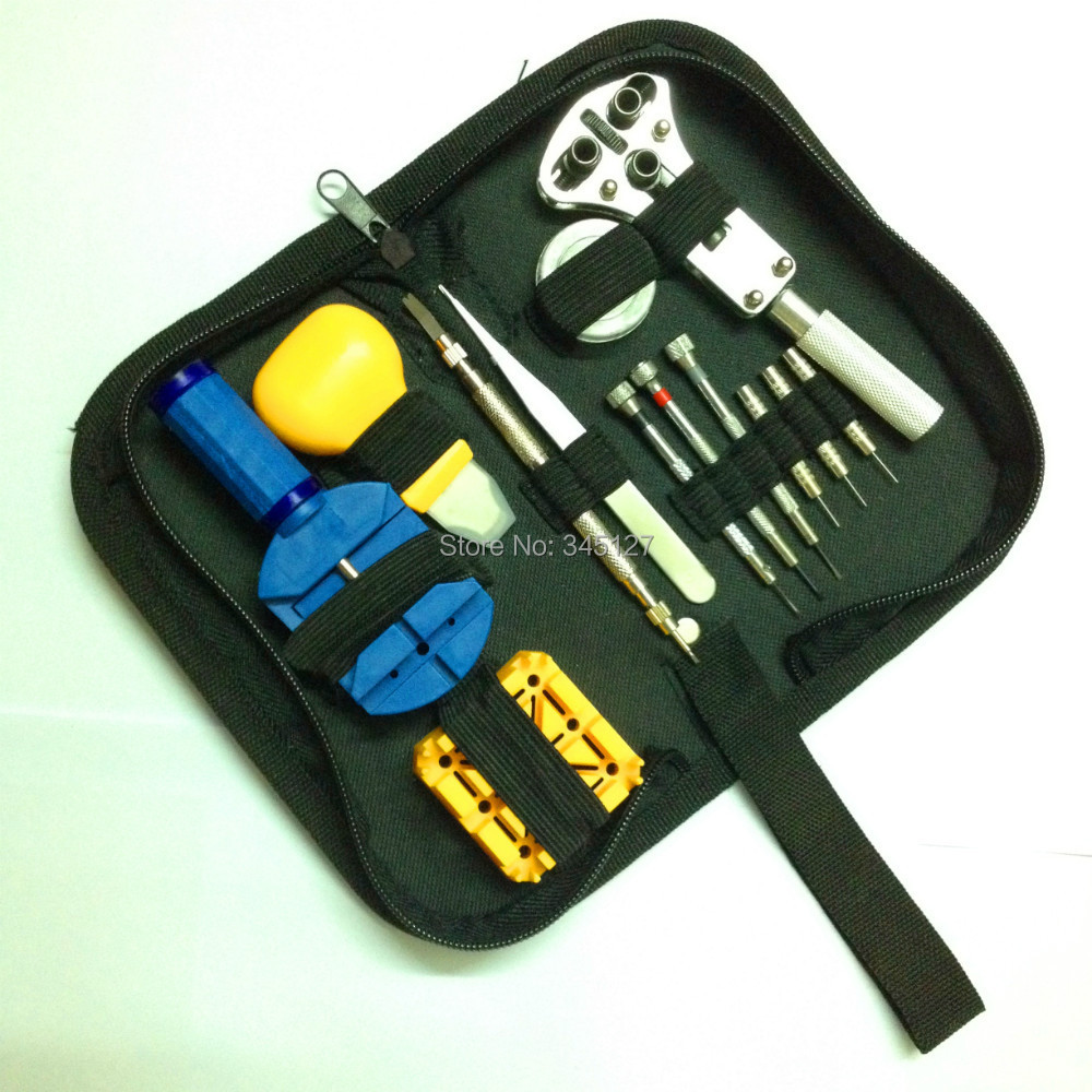 New 13pcs Watch Repair Tool Kit Set With Case Opener WatchBand Pin Remover(China (Mainland))
